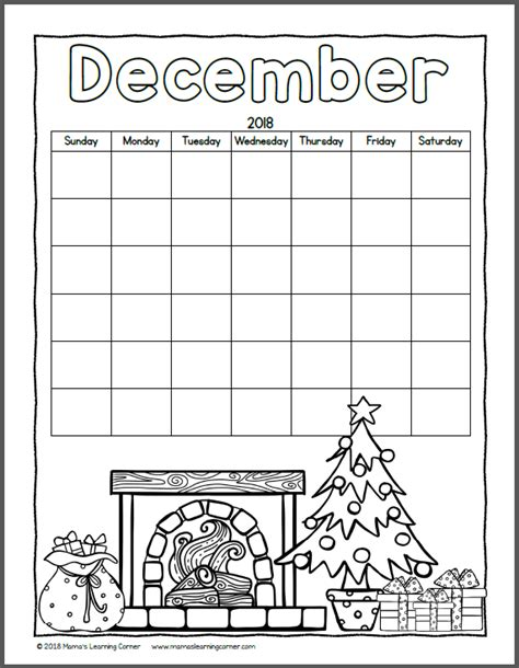 your own calendar 2018 color your own calendar 2018 mamas learning corner