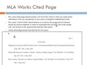 Mla Works Cited Essay by Mla Formatting And Citation Ppt