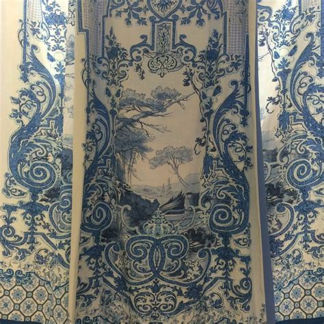 silk designer fabric 1 5 yards italian dress floral paisley printed italy ebay