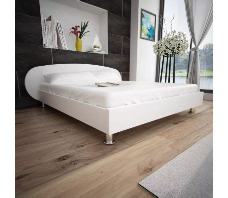 Bed Cover 150cm X200 Cm vidaxl bed frame 5ft king size 150x200 cm artificial leather white vidaxl co uk
