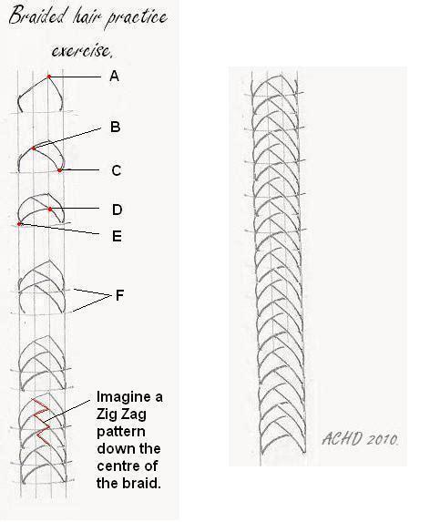 line art hair tutorial how to draw hair braids braided hair na vi tutorial part 5