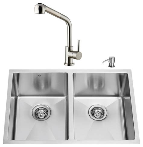 modern undermount kitchen sink vigo undermount stainless steel kitchen sink faucet and