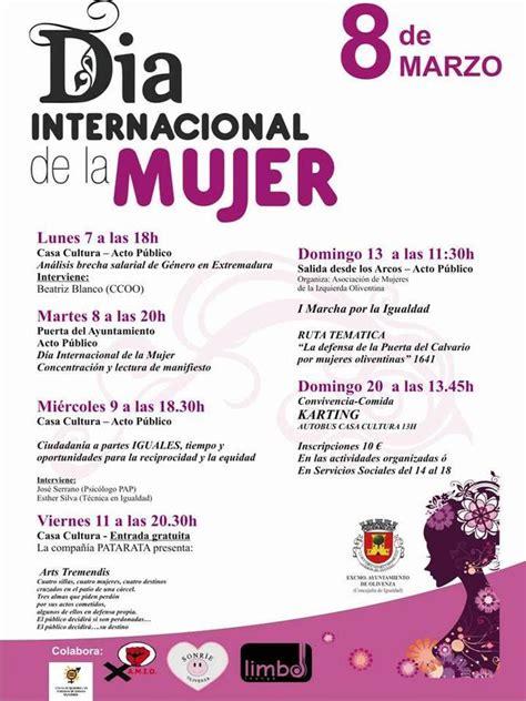 discurso por el da internacional de la mujer las actividades por el d 237 a internacional de la mujer