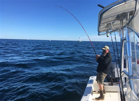 fishing boat charter falmouth cape cod charter fishing for trophy striped bass with