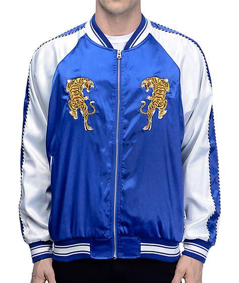 Jaket Blue Tiger eptm tiger blue white souvenir jacket