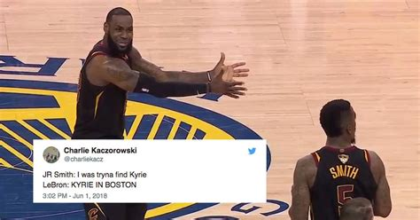 lebron meme lebron s frustration at j r smith s mistake is now