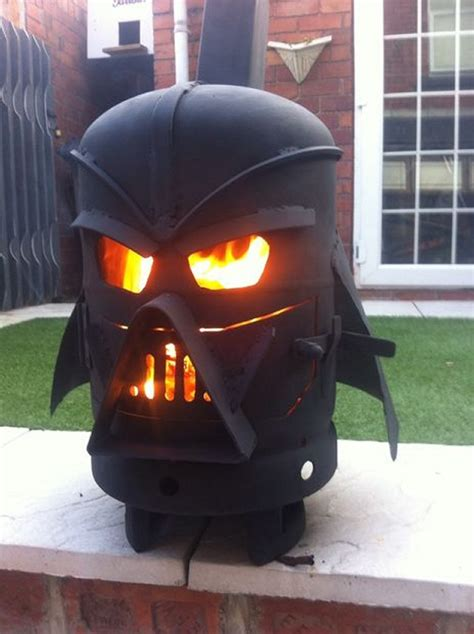 darth vader outdoor wood stove lets you join the smoky