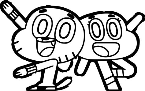 gumball coloring pages wecoloringpage