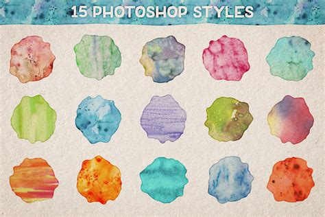hairstyles watercolor watercolor photoshop styles volume 1 design panoply