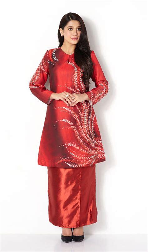 design baju kebaya first lady fern print modern baju kurung kebaya baju