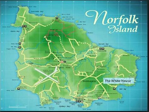 norfolk island map map of norfolk island from maps