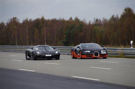 Bugatti Veyron Vs Koenigsegg Koenigsegg Agera R Vs Bugatti Veyron Vitesse Race To
