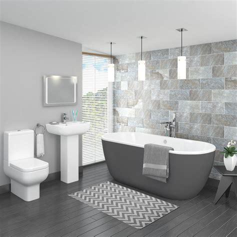 bathroom color schemes grey