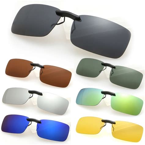 Clip On Square Sunglasses polarized clip on sunglasses driving vision lens for