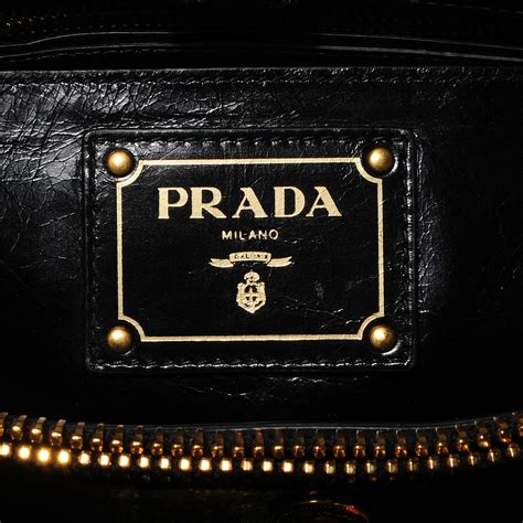 Prada Bn251 Vitello Shine Black Nero prada vitello shine tote nero black 99739