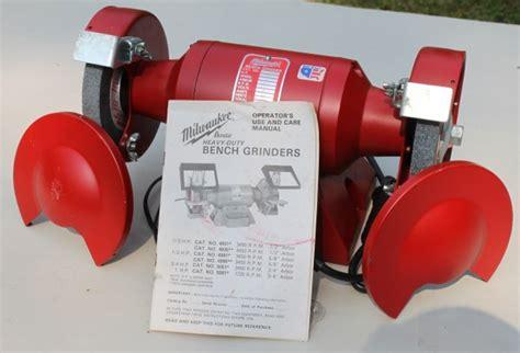 milwaukee bench grinder milwaukee bench grinder 1 3 hp