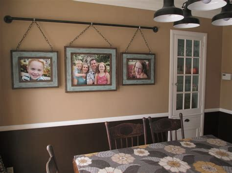 hanging pictures kruse s workshop iron pipe family photo display