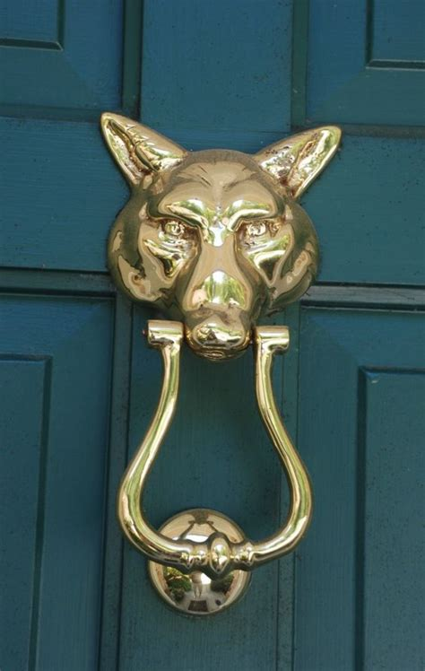 Door Knockers Foxes And Teal Door On Pinterest Exterior Door Knockers