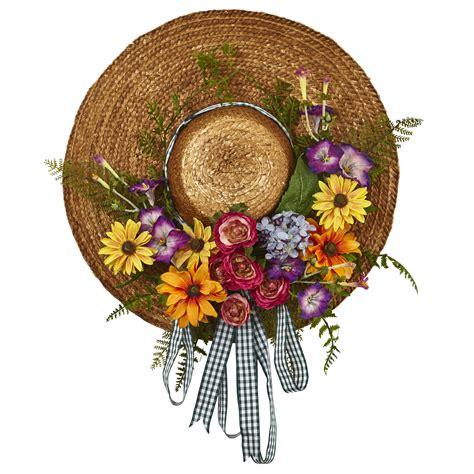 Flower Hat garden flower hat wreath prowreaths
