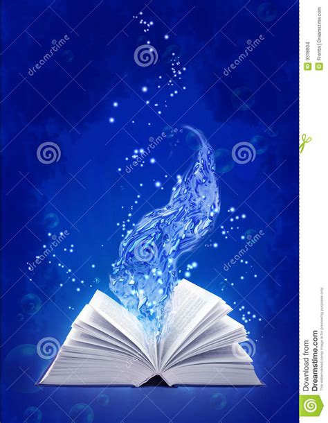 water from my a novel book of water magic stock illustration image of freshness