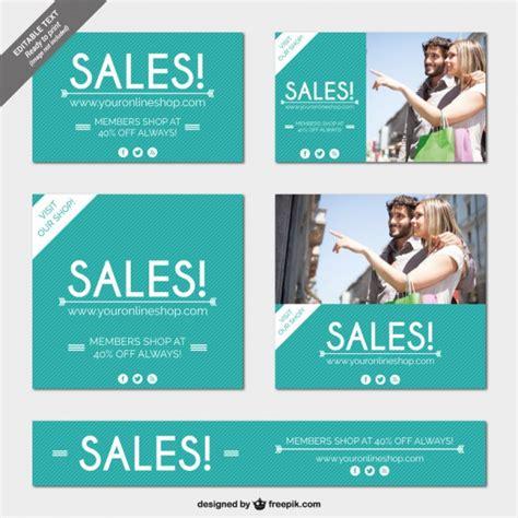 online shop sales banners vector free download