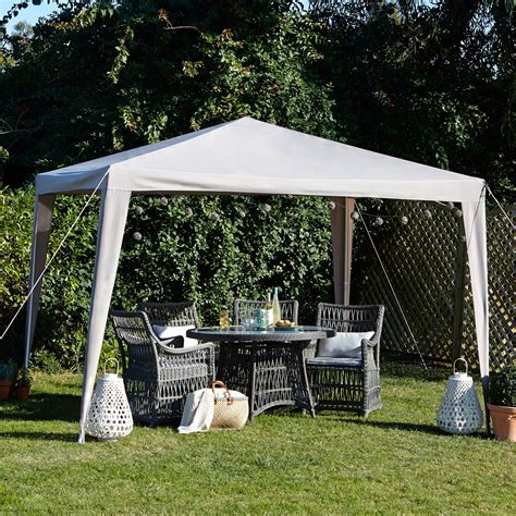 gazebo b q blooma jarvis deluxe taupe gazebo departments diy at b q