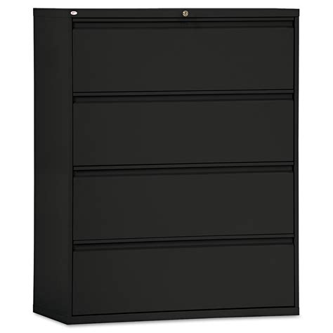 Lateral File Cabinet 4 Drawer Four Drawer Lateral File Cabinet By Alera 174 Alelf4254bl Ontimesupplies