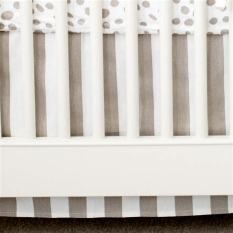 Khaki Crib Skirt by Khaki And White Stripe Crib Skirt Nursery Crib Bed Skirt