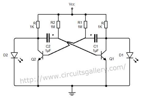 circuit diagram of astable multivibrator astable multivibrator using transistors transistorised