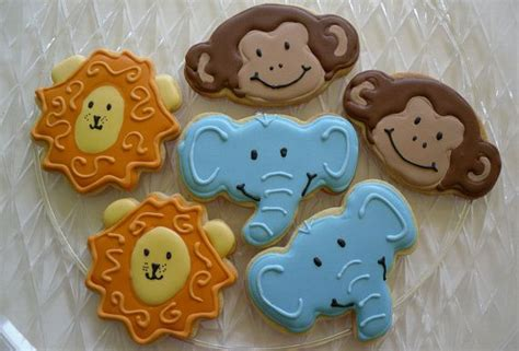 Monkey Cookie Cutter Baby Shower by Jungle Cookies Monkey Elephant Baby Shower Baby