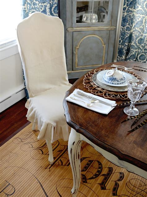 How To Cover Dining Chairs How To Make A Custom Dining Chair Slipcover Hgtv