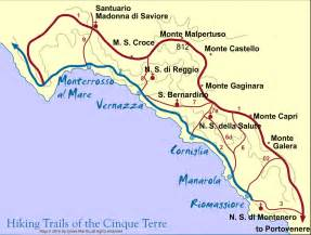Vernazza Italy Map by Cinque Terre Trail Map Walking The Trails Wandering Italy