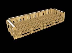 3d plans pour fournir un bureau avec palettesmeuble en