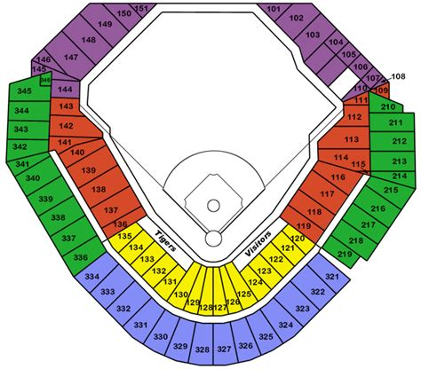 comerica park seating sections comerica park seating interactive bing images