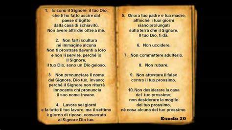 tavole dieci comandamenti studio 13 i dieci comandamenti ultima parte