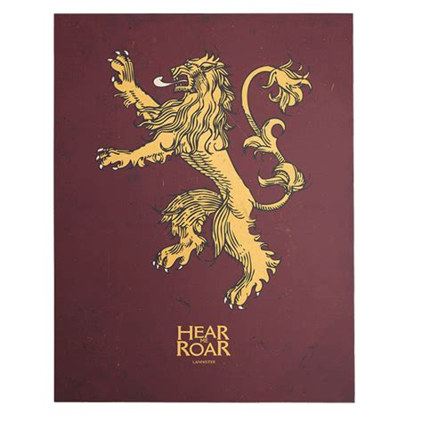 Of Thrones House Lannister of thrones house lannister sigil canvas zing pop