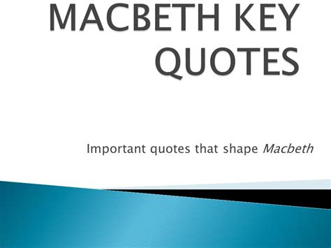 macbeth theme things aren t what they seem important quotes that shape macbeth ppt video online