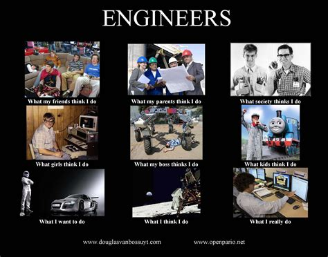 mechanical engineering student what think i do what what think engineers do not your average engineer