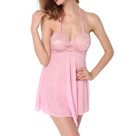 Kely Sleep Wear Transparant Babydoll G String Promo womens sheer lace chemise babydoll nightie dress sleepwear nightwear ebay