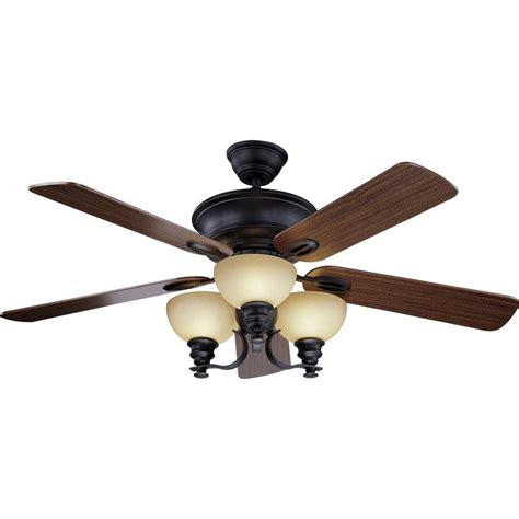 Home Depot Ceiling Fan Light Kit Clarkston 44 In Rubbed Bronze Ceiling Fan With Light Kit Cf544h Peh The Home Depot