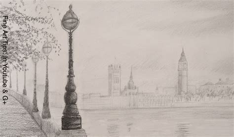how to draw the big ben how to draw a landscape youtube