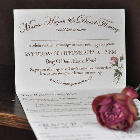 inside of wedding invitation vintage floral wedding invitation by e y i