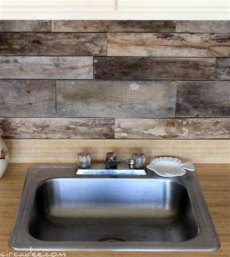 barnwood backsplash feels like home - Barnwood Backsplash