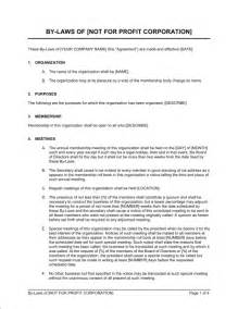 Non Profit Bylaws Template Free by Bylaws Not For Profit Corporation Template Sle Form