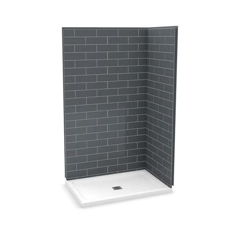 durock 48 in x 48 in shower kit with center drain 170132