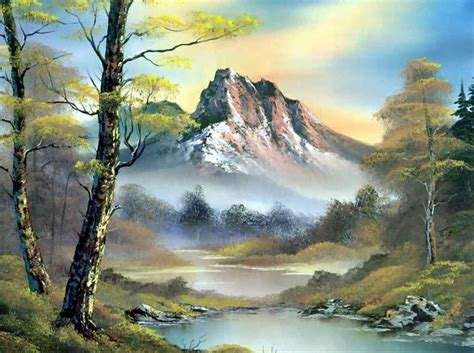 bob ross painting fog 50 awe inspiring paintings