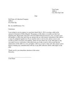 Debt Collection Dispute Letter Template Credit Collection Dispute Letter Template Credit Repair