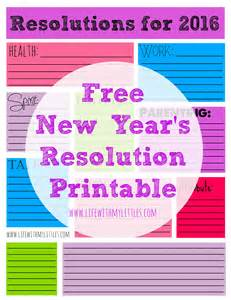 My Resolution For 2016 Essay by New Year S Resolution Printable For 2016