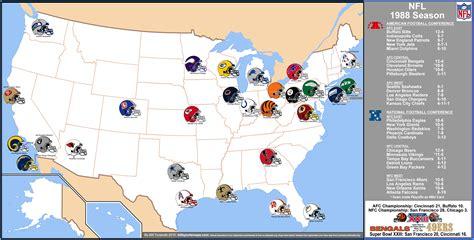 nfl usa map nfl gt 1988 map season 171 billsportsmaps