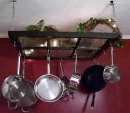 Pot Rack Ideas Diy Hanging A Kitchen Pot Rack The Modern